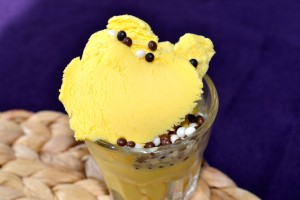 Passion fruit ice cream