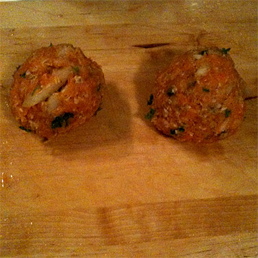 Two properly squeezed patties
